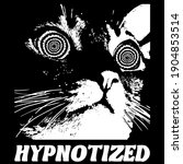 manga style hypnotized cat with ... | Shutterstock .eps vector #1904853514
