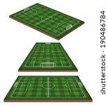 soccer  football field 3d   Shutterstock . vector #190486784