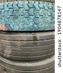 Old Used Tire Fenders Coverd...