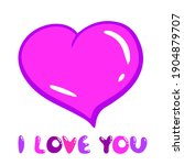 pink purple gentle vector heart ... | Shutterstock .eps vector #1904879707