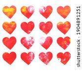 hearts pattern hand drawn... | Shutterstock . vector #1904891251