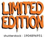 urban neon graffiti limited... | Shutterstock .eps vector #1904896951