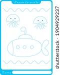 submarine. preschool worksheet... | Shutterstock .eps vector #1904929237
