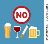 stop smoking and drinking... | Shutterstock .eps vector #1904936851