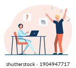 man shouting on woman working...   Shutterstock .eps vector #1904947717