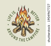 camp burning campfire with...   Shutterstock .eps vector #1904967727