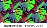 vector seamless pattern with... | Shutterstock .eps vector #1904970364