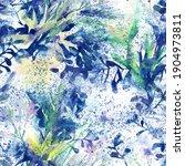 watercolor wild flowers... | Shutterstock . vector #1904973811
