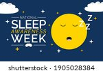 national sleep awareness week... | Shutterstock .eps vector #1905028384