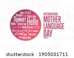 international mother language... | Shutterstock .eps vector #1905031711