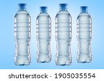 Set Of Plastic Water Bottles On ...