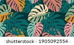tropical seamless pattern with... | Shutterstock .eps vector #1905092554