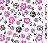 violet flowers and dandelion...   Shutterstock .eps vector #1905094927