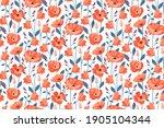 vector floral seamless pattern. ... | Shutterstock .eps vector #1905104344