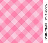 diagonal tartan valentines day...   Shutterstock .eps vector #1905107047
