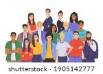 multicultural group of people.... | Shutterstock .eps vector #1905142777