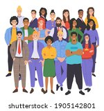 multicultural group of people.... | Shutterstock .eps vector #1905142801