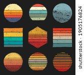 retro vintage sunsets pack ...   Shutterstock .eps vector #1905176824