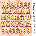 pop colorful letter font... | Shutterstock .eps vector #1905197881