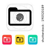 folder with fingerprint icon....