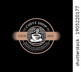 coffee shop logo design... | Shutterstock .eps vector #1905220177