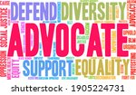Advocate Word Cloud On A White...