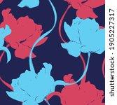 beautiful seamless floral... | Shutterstock .eps vector #1905227317