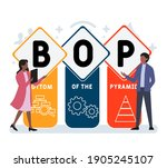 Flat Design With People. Bop  ...