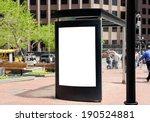 outdoor advertising  bus shelter | Shutterstock . vector #190524881