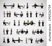 business peoples   isolated on... | Shutterstock .eps vector #190526759