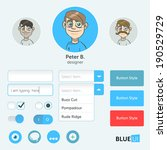 blue ui with illustrated avatars