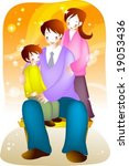 happy family | Shutterstock .eps vector #19053436