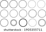 circle frame detail design set | Shutterstock .eps vector #1905355711