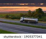 Isothermal Tank Truck Driving...