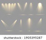 the yellow spotlight shines on... | Shutterstock .eps vector #1905395287