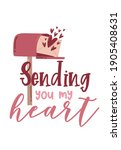 valentine's day card with...   Shutterstock .eps vector #1905408631