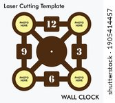 photo wall clock laser cutting... | Shutterstock .eps vector #1905414457