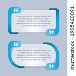 quotes template in 2 variations ...   Shutterstock .eps vector #1905420091