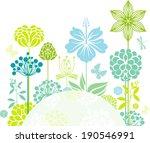 decorative floral composition   Shutterstock .eps vector #190546991