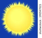 Sun icon on the sky