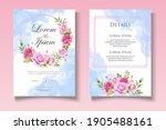 elegant floral wedding... | Shutterstock .eps vector #1905488161