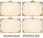 rectangle frame design set with ... | Shutterstock .eps vector #1905512104