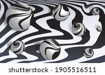 black white abstract paint...