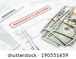 insurance claim form and... | Shutterstock . vector #190551659