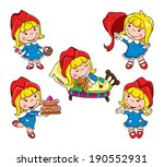 girl in a red cap  red riding... | Shutterstock .eps vector #190552931