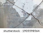 Cross Cracked Of Concrete...