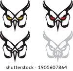 tribal owl mask   four options. ... | Shutterstock .eps vector #1905607864