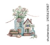 Rural House With Seashells ...