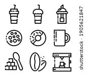 set  colletion of coffe shop ... | Shutterstock .eps vector #1905621847