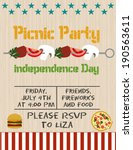 picnic party   Shutterstock .eps vector #190563611